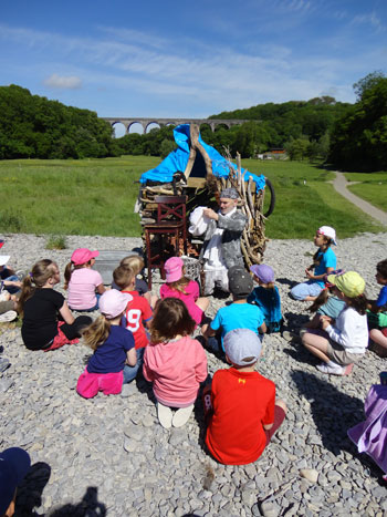 Porthkerry-story-telling project Theatr Iolo
