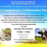 Invite to Kali Theatre Collaborators Tea Party, Sat 12th Nov.