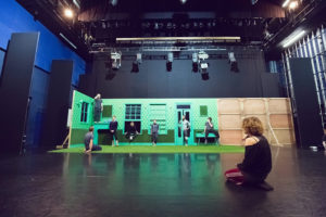 Caroline in rehearsals for The Green House