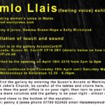 Review Teimlo Llais (Feeling Voice), Arcade Cardiff Exhibition, Artists: Penny D Jones, Gemma Green-hope and Sally Richmond by Tafsila Khan